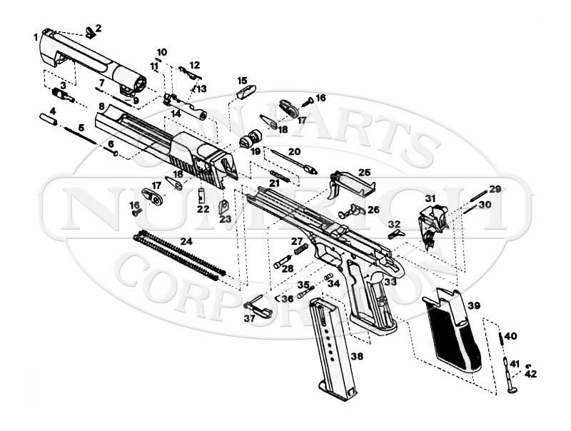 Magnum Research Desert Eagle gun schematic