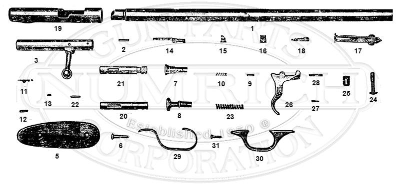 Sears Rifles 103.8 gun schematic
