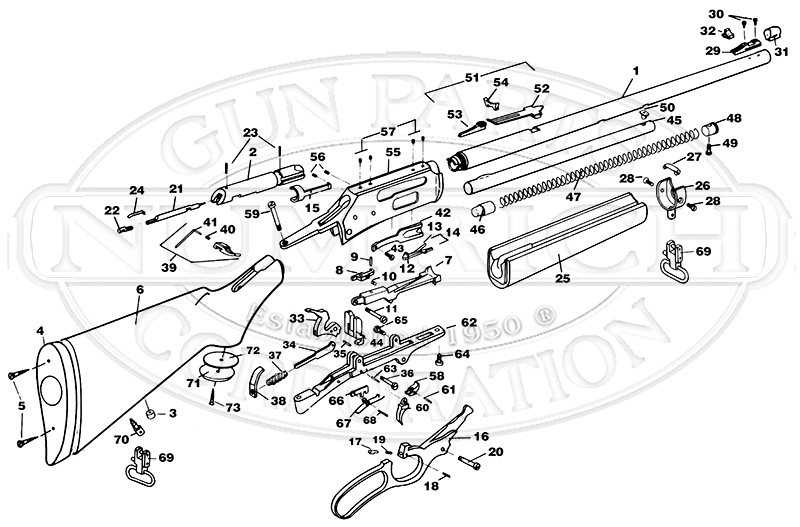 Marlin/Glenfield Rifles 1895 Series 1895S gun schematic
