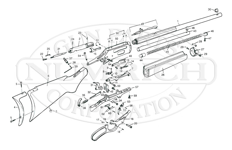 Marlin/Glenfield Rifles 1895 Series 1895 Century Limited gun schematic