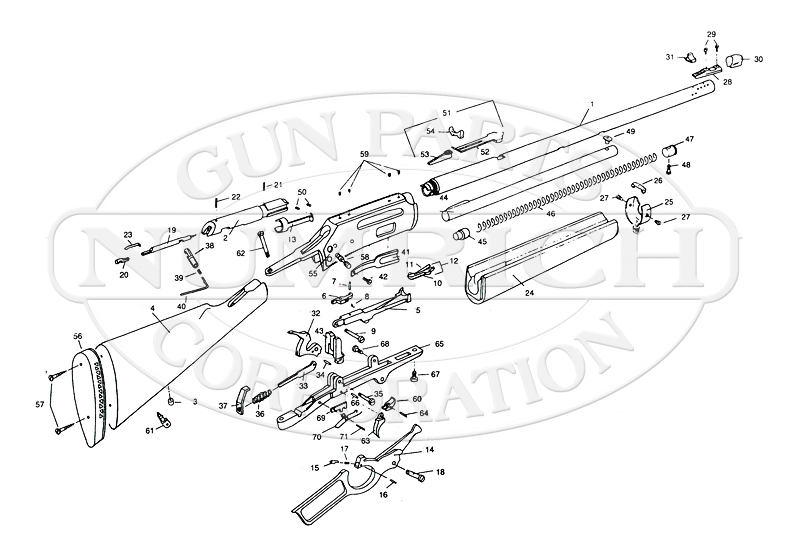 Marlin / Glenfield Rifles 1895 Series 1895CB gun schematic