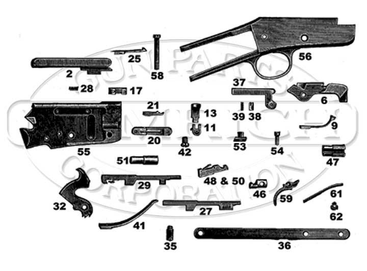 Marlin/Glenfield Model 37 Parts | Numrich Gun Parts on benelli m1 super 90 schematic, marlin 795 rifle schematic, marlin m9 parts schematic,
