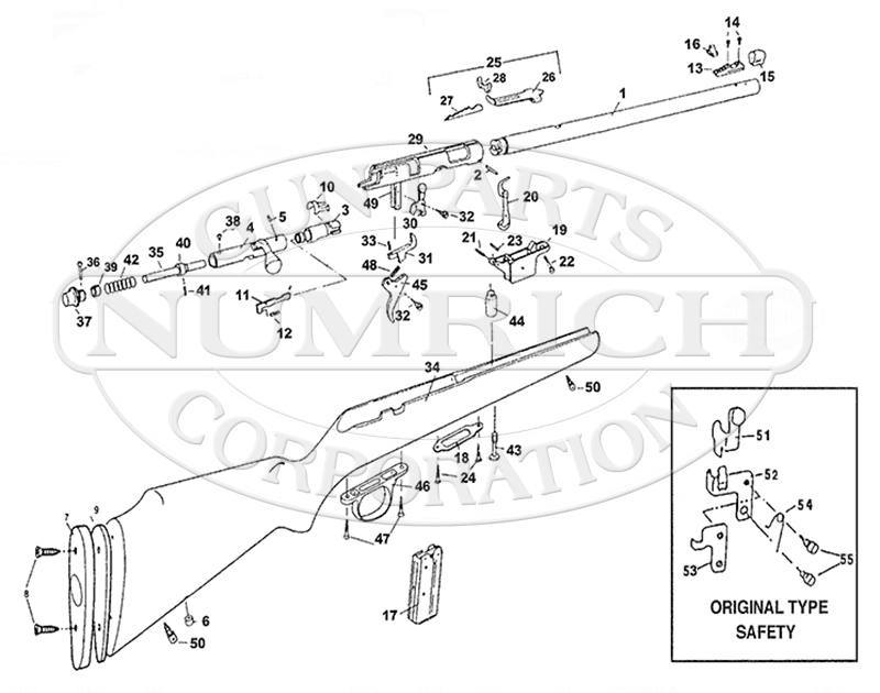 Marlin Model 880 Parts Schematic
