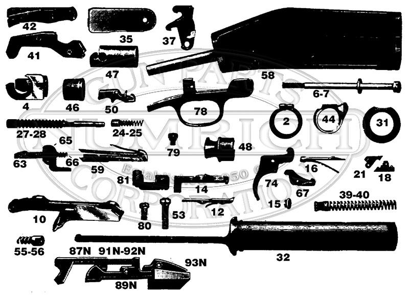Marlin/Glenfield Shotguns 28 gun schematic