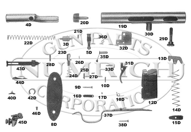 Marlin/Glenfield Rifles 50 Semi-Auto Rifle gun schematic