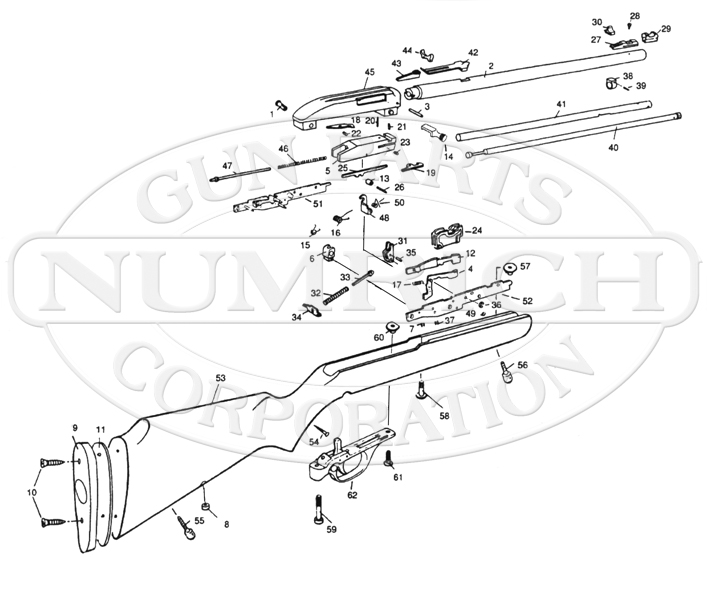 Marlin/Glenfield Rifles 60C gun schematic