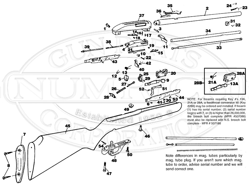 Marlin/Glenfield Rifles 60 New Model gun schematic