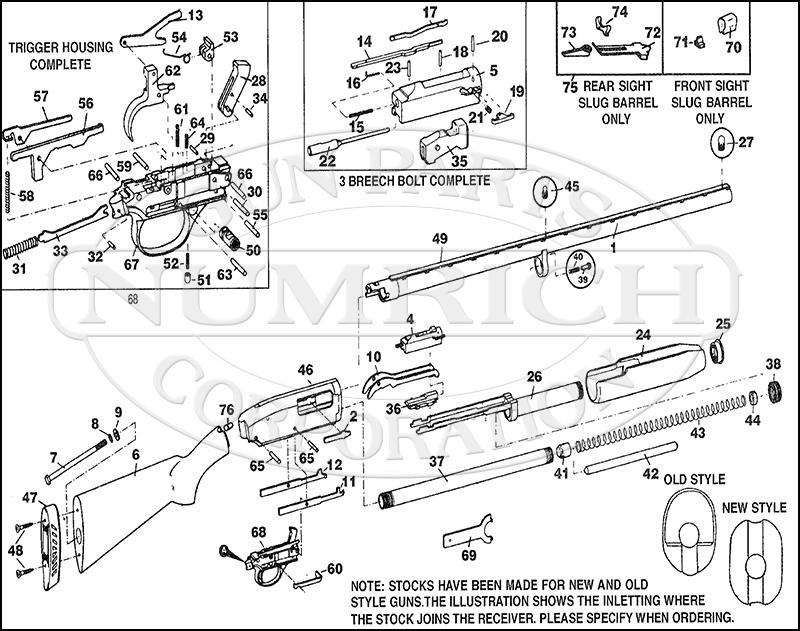 Marlin/Glenfield Shotguns 778 gun schematic