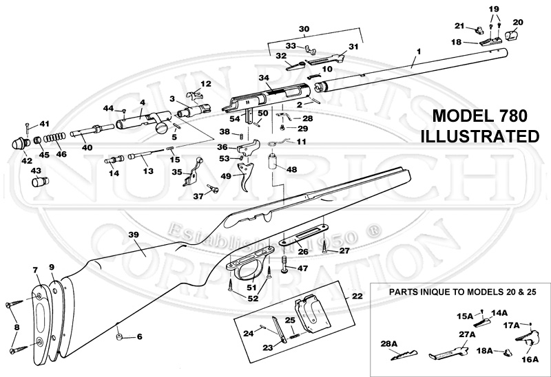Marlin  Glenfield Model 25 Parts  U0026 Schematic