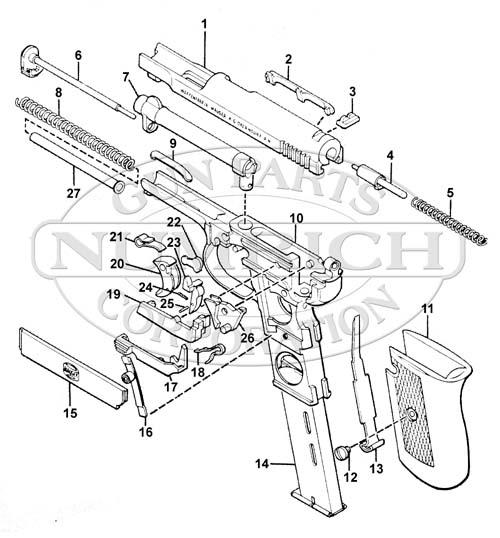 1910 Pocket Pistol Schematic