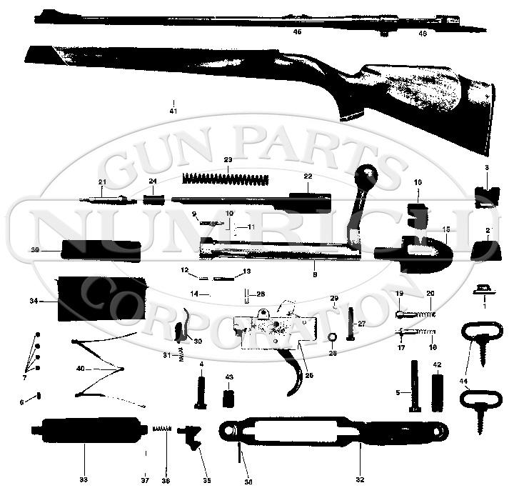 Mauser Rifles 4000 gun schematic