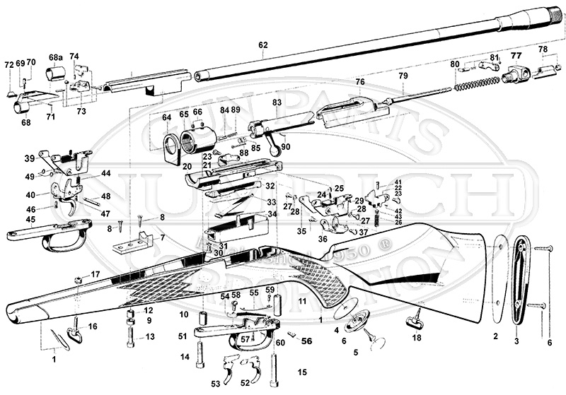 Mauser Rifles 660 Safari gun schematic