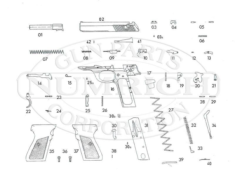 Mauser Auto Pistols HSC Super gun schematic