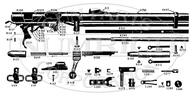 Mossberg Rifles 146BA gun schematic