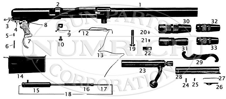 Mossberg Shotguns 183DE gun schematic