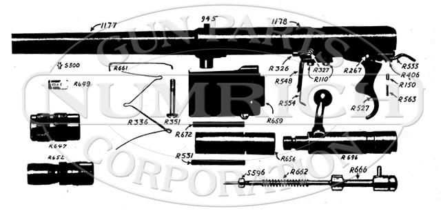Mossberg Shotguns 190KA gun schematic