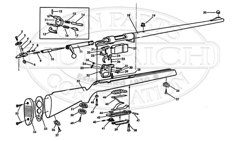 Mossberg Rifles 220A gun schematic