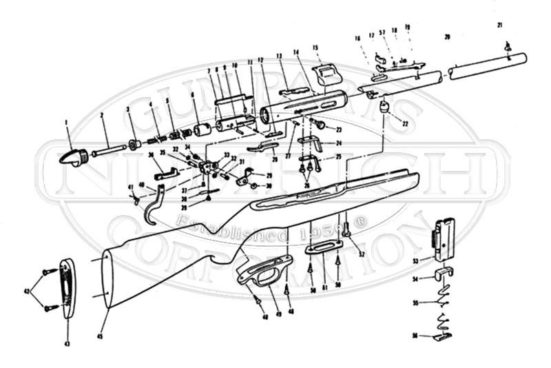 Mossberg Rifles 250CB gun schematic