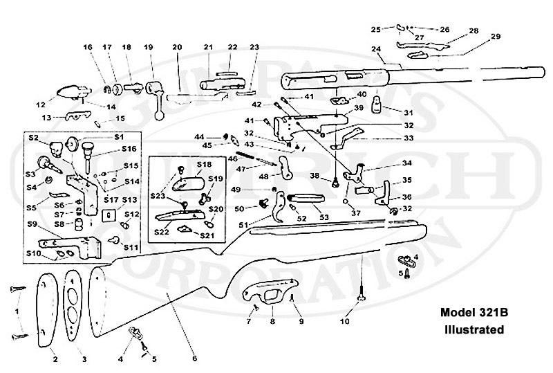 Mossberg Rifles 320B gun schematic