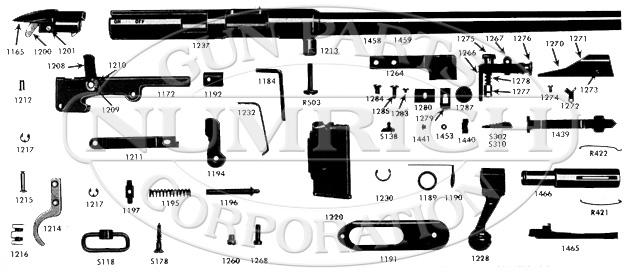 Mossberg Rifles 340KA gun schematic