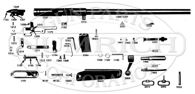 Mossberg Rifles 342K gun schematic