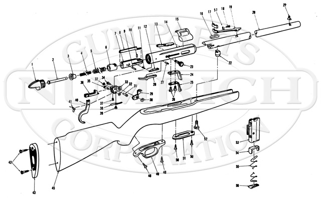 Mossberg Rifles 350KC gun schematic