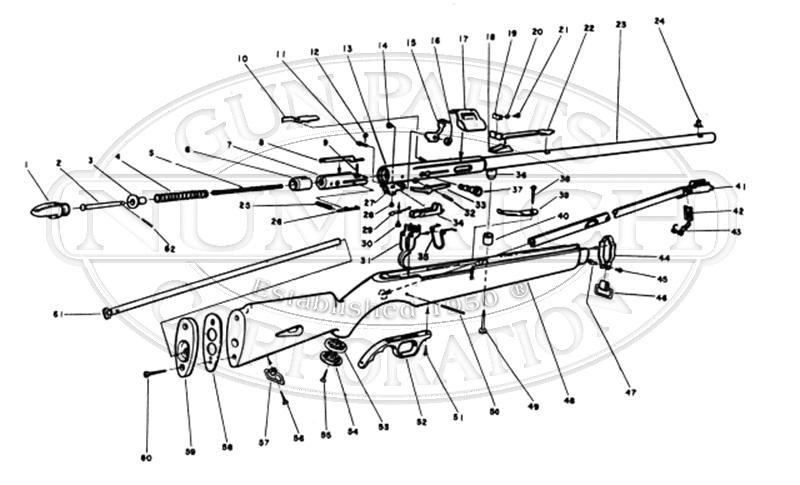 Mossberg Rifles 351KC gun schematic