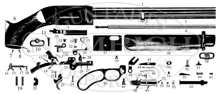 Mossberg Rifles 402 gun schematic