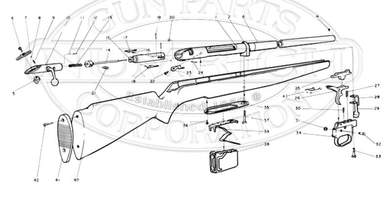 Mossberg Shotguns 485B gun schematic
