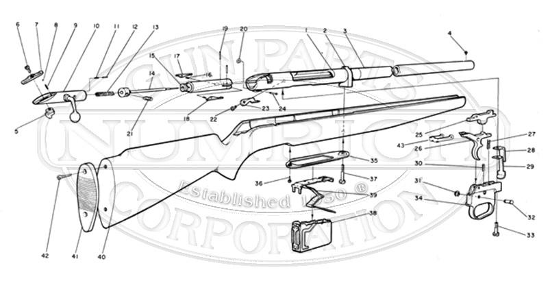 Mossberg Shotguns 490A gun schematic