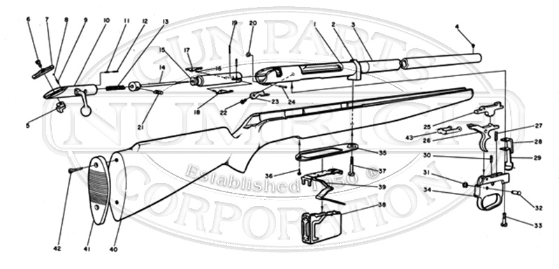Mossberg Shotguns 495A gun schematic