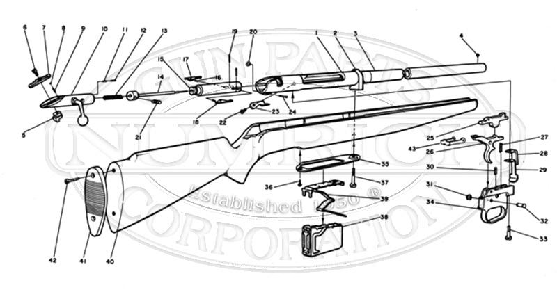 Mossberg Shotguns 495B gun schematic