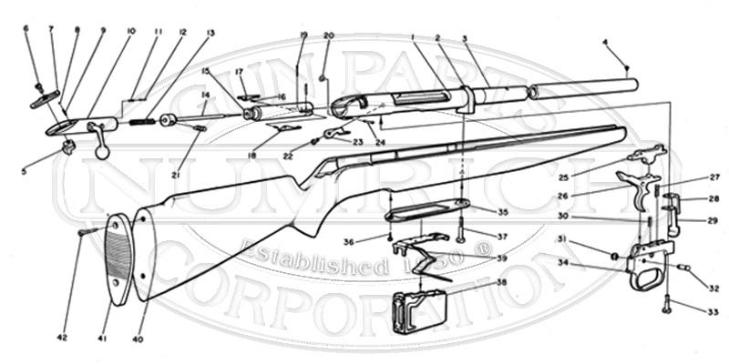 Mossberg Shotguns 495 gun schematic