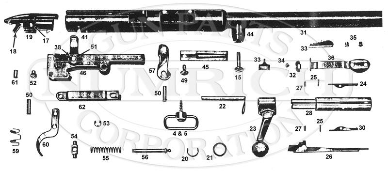 Mossberg Rifles 620K gun schematic