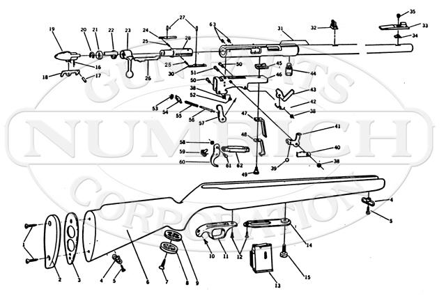Mossberg Rifles 640M gun schematic