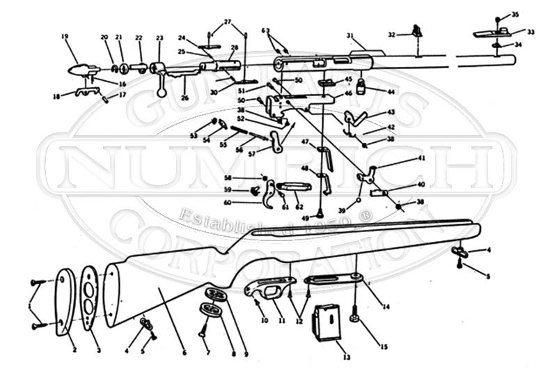 Mossberg Rifles 640KD gun schematic
