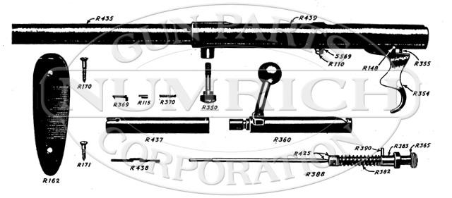 Mossberg Shotguns 73B gun schematic