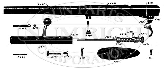 Mossberg Shotguns 75B gun schematic