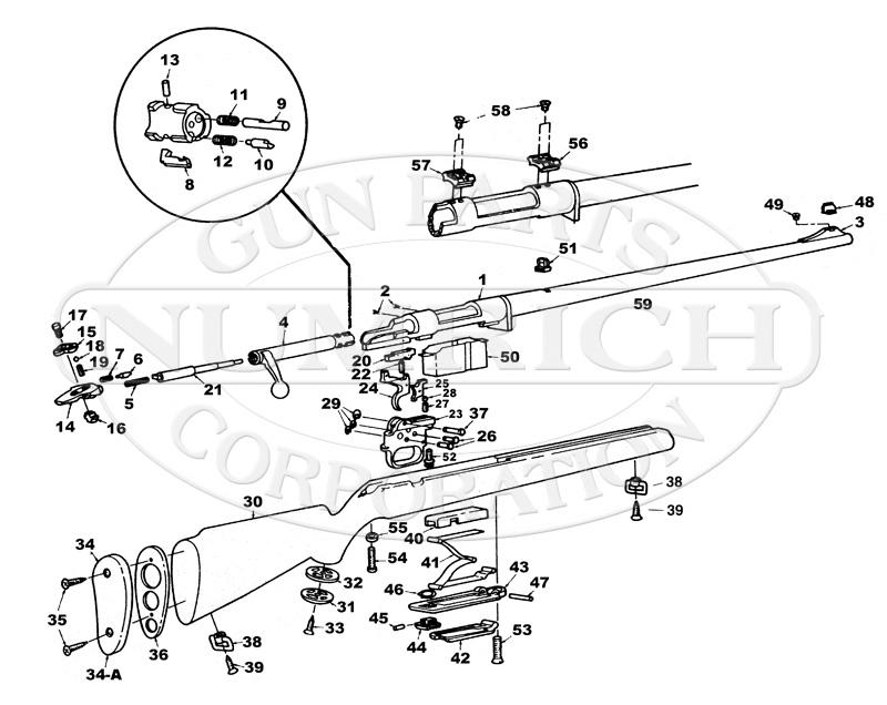 Mossberg Rifles 800A gun schematic