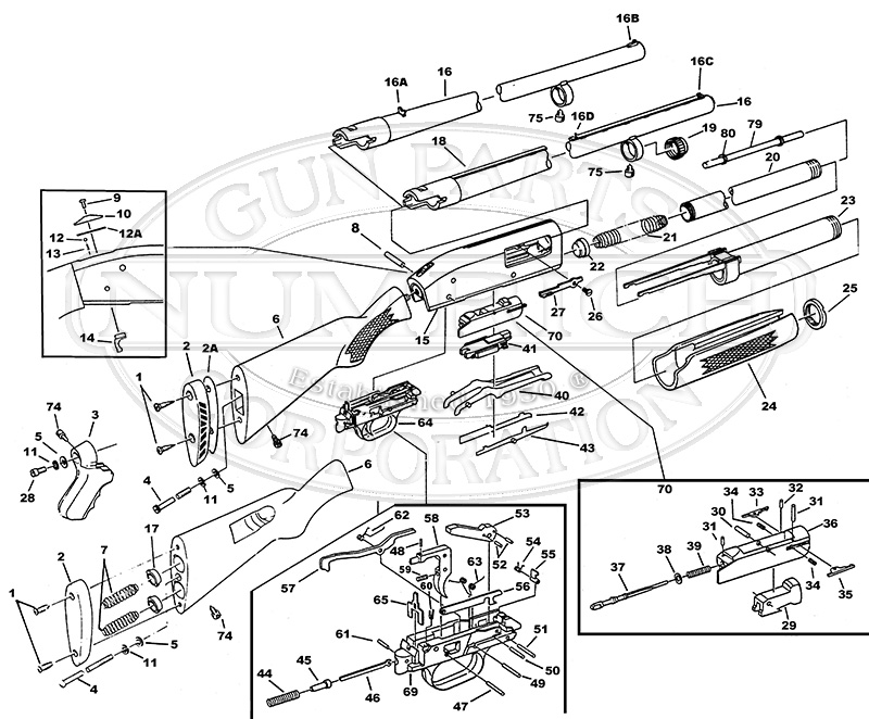Shotgun Parts Diagram Mossberg Shotgun Parts