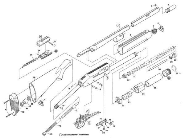Mossberg Shotguns 935 gun schematic