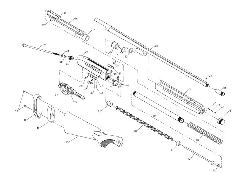 Mossberg Shotguns International SA-20 gun schematic