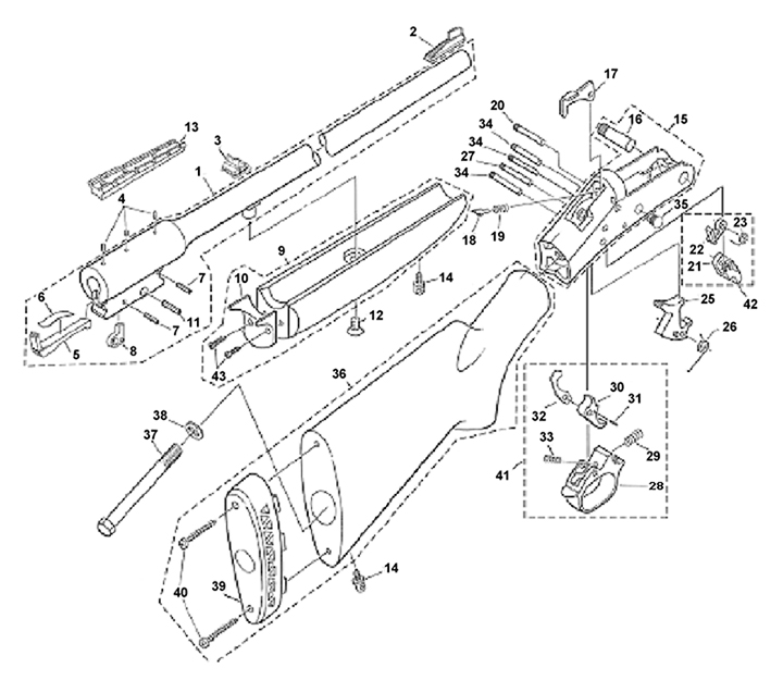 Handi Rifle SB2 Schematic | Numrich