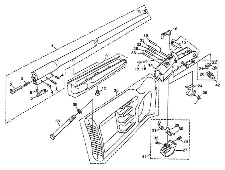 New England Firearms Tamer Shotgun gun schematic