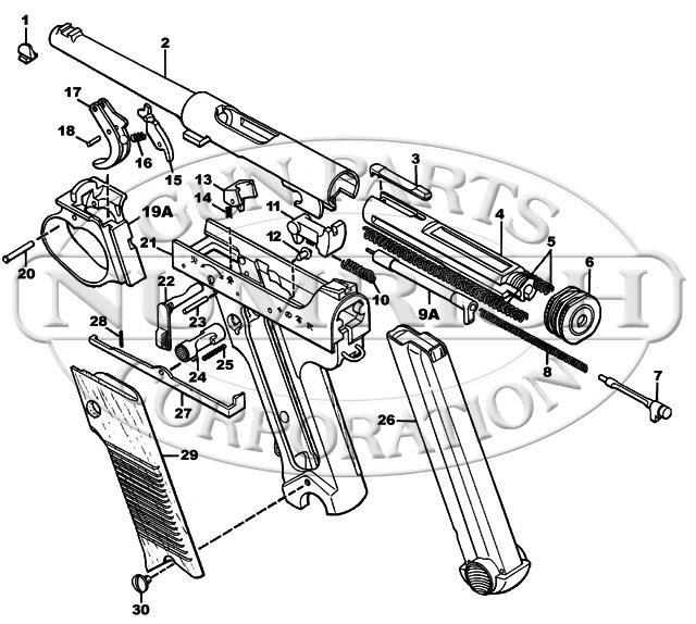 Nambu Type 14 gun schematic