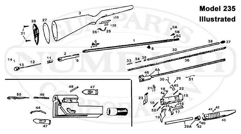 Noble Rifles 275 Series 275G gun schematic