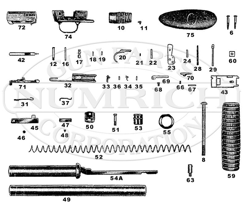 Noble Shotguns 50 gun schematic