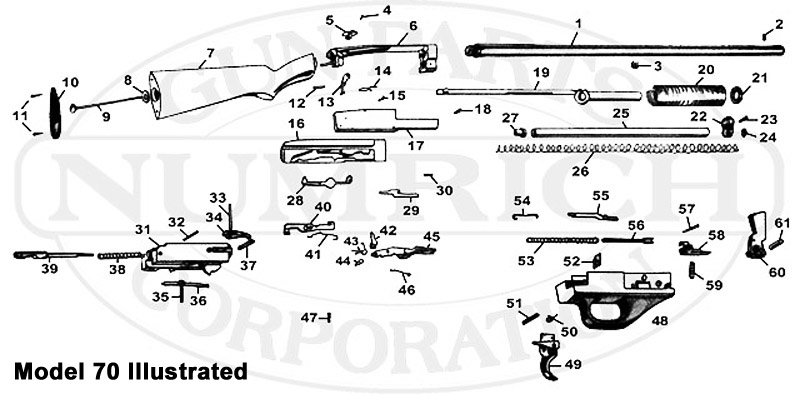 Noble Shotguns 70 Series 70 gun schematic
