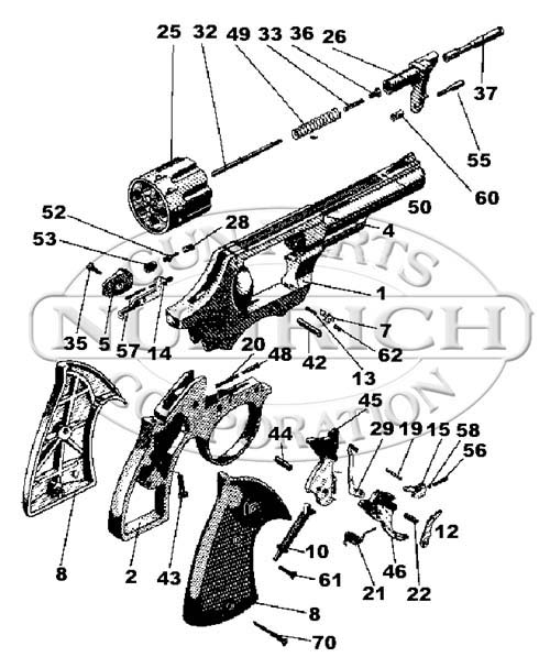RG Revolvers 40 gun schematic