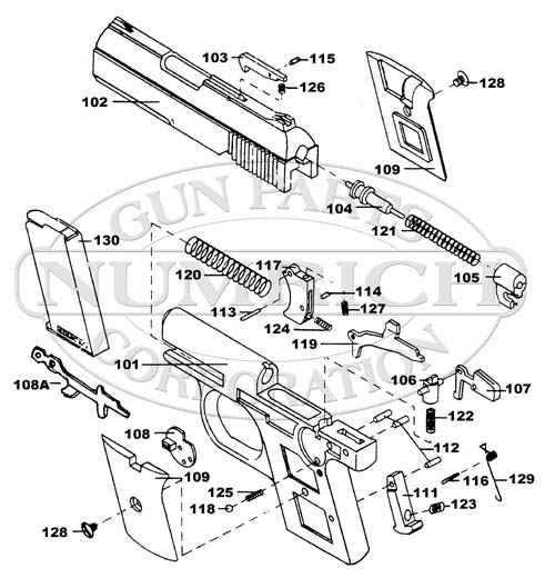 Raven Arms MP25 gun schematic